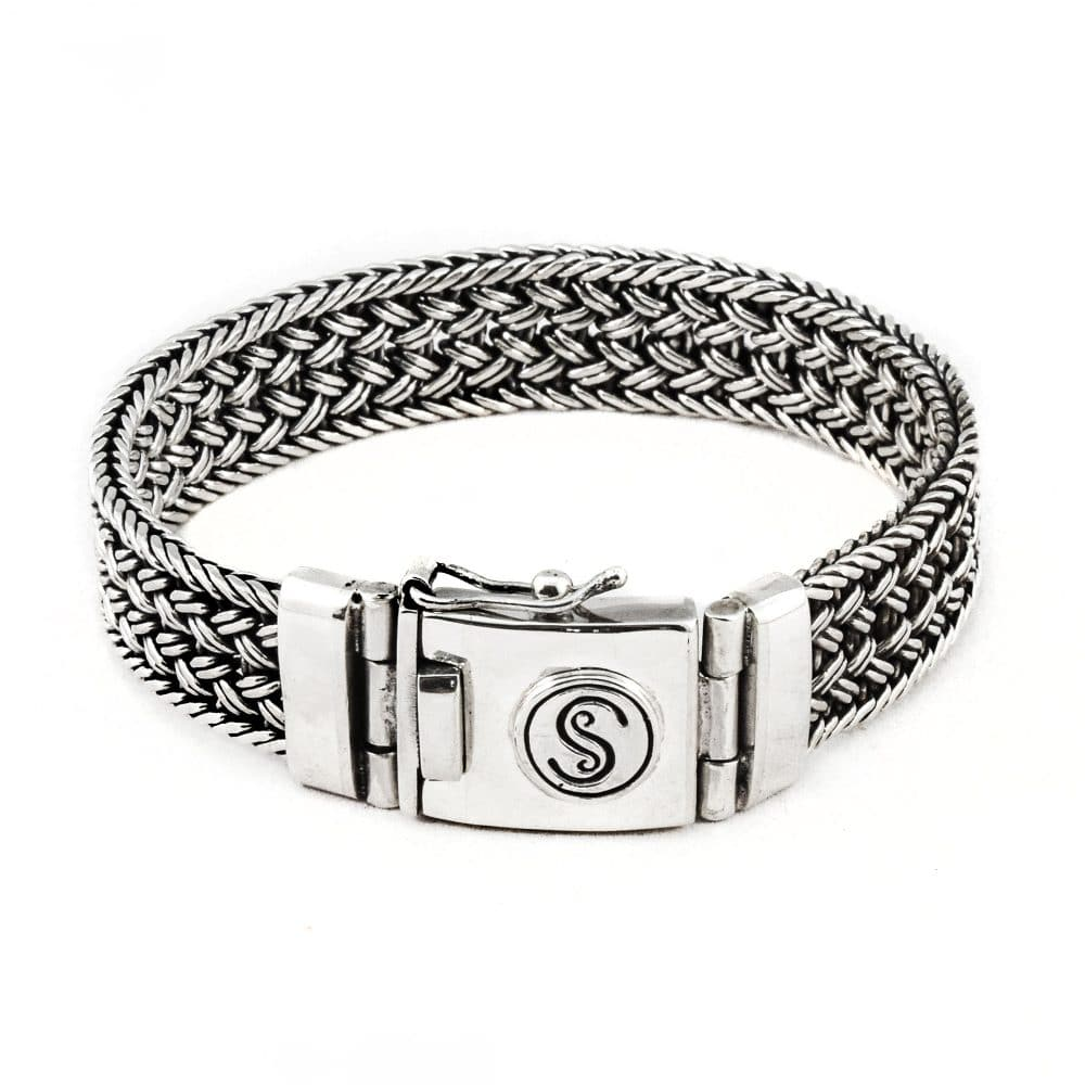 Segoya Kemodo hoog zilvergehalte armband, handgemaakt in Bali.