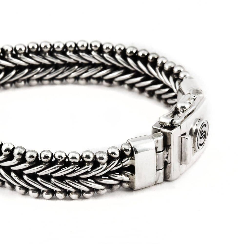 Segoya Bisa hoog zilvergehalte armband, handgemaakt in Bali.