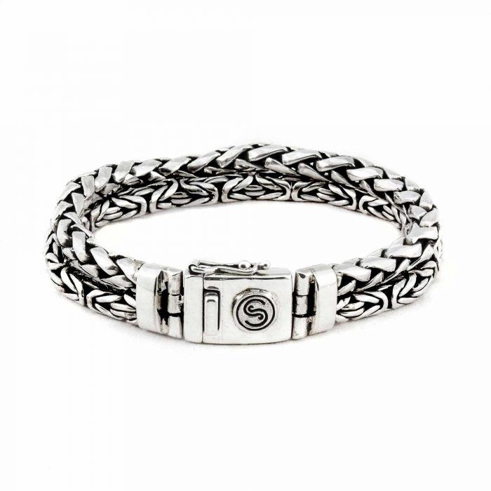 Segoya Isla hoog zilvergehalte armband, handgemaakt in Bali.