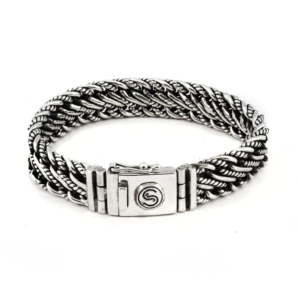 Segoya Elba hoog zilvergehalte armband, handgemaakt in Bali.