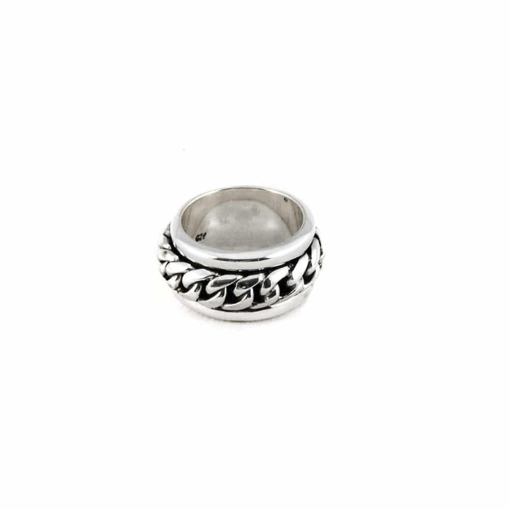 Segoya Jera hoog gehalte zilveren ring, handgemaakt in Bali.