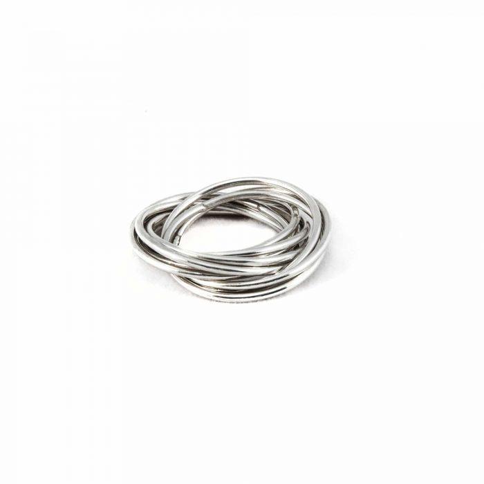 Segoya Kerase hoog gehalte zilveren ring, handgemaakt in Bali.