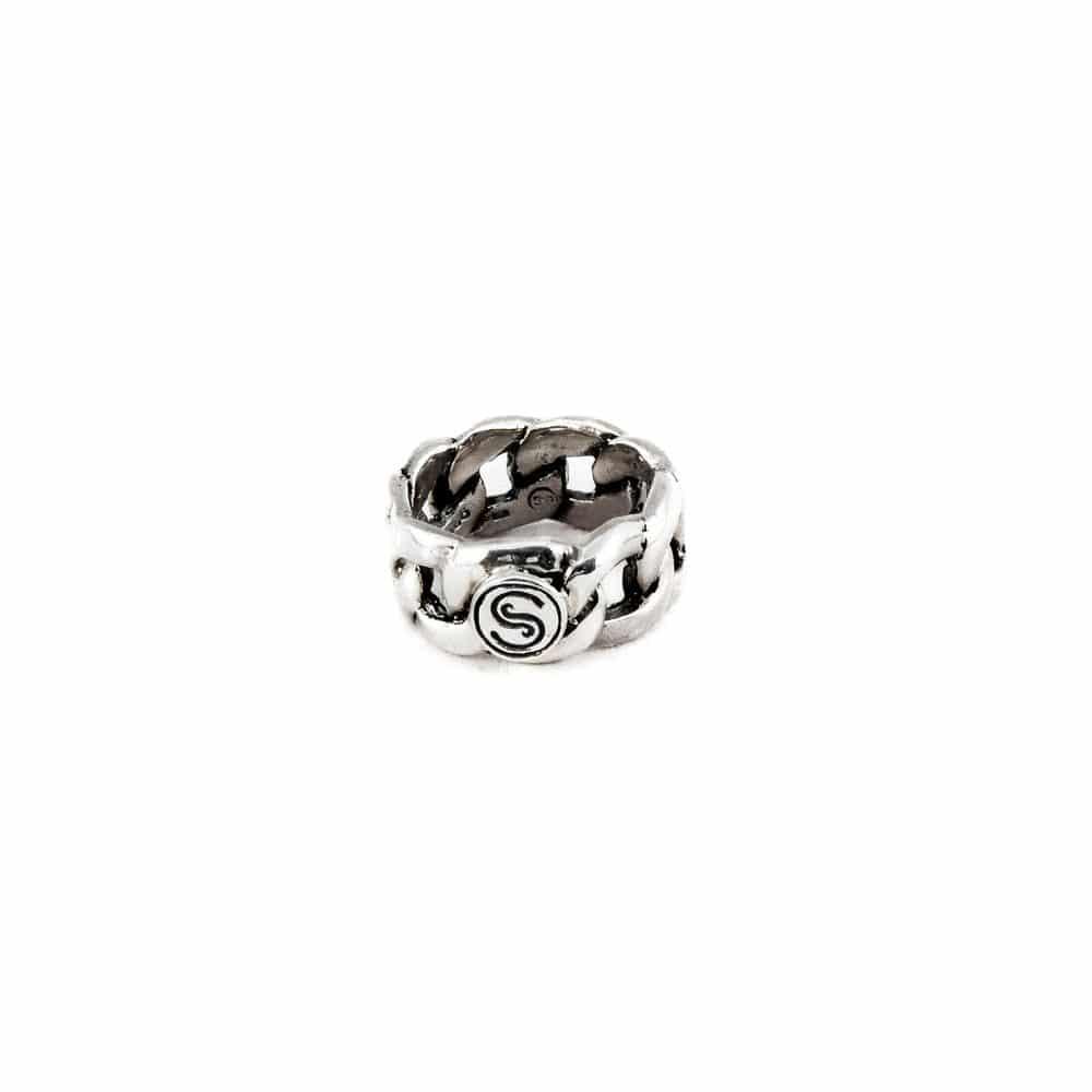 Segoya Sal hoog gehalte zilveren ring, handgemaakt in Bali.