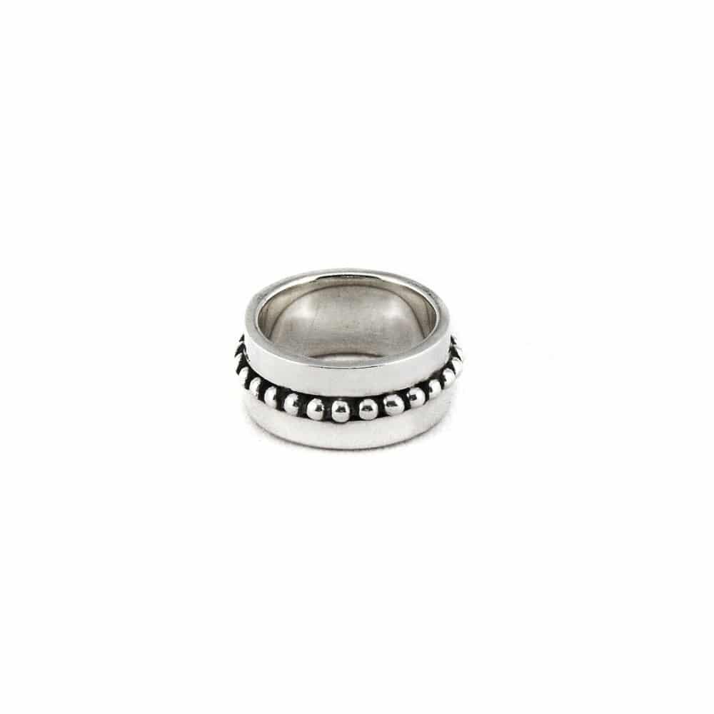 Segoya Sematra hoog gehalte zilveren ring, handgemaakt in Bali.