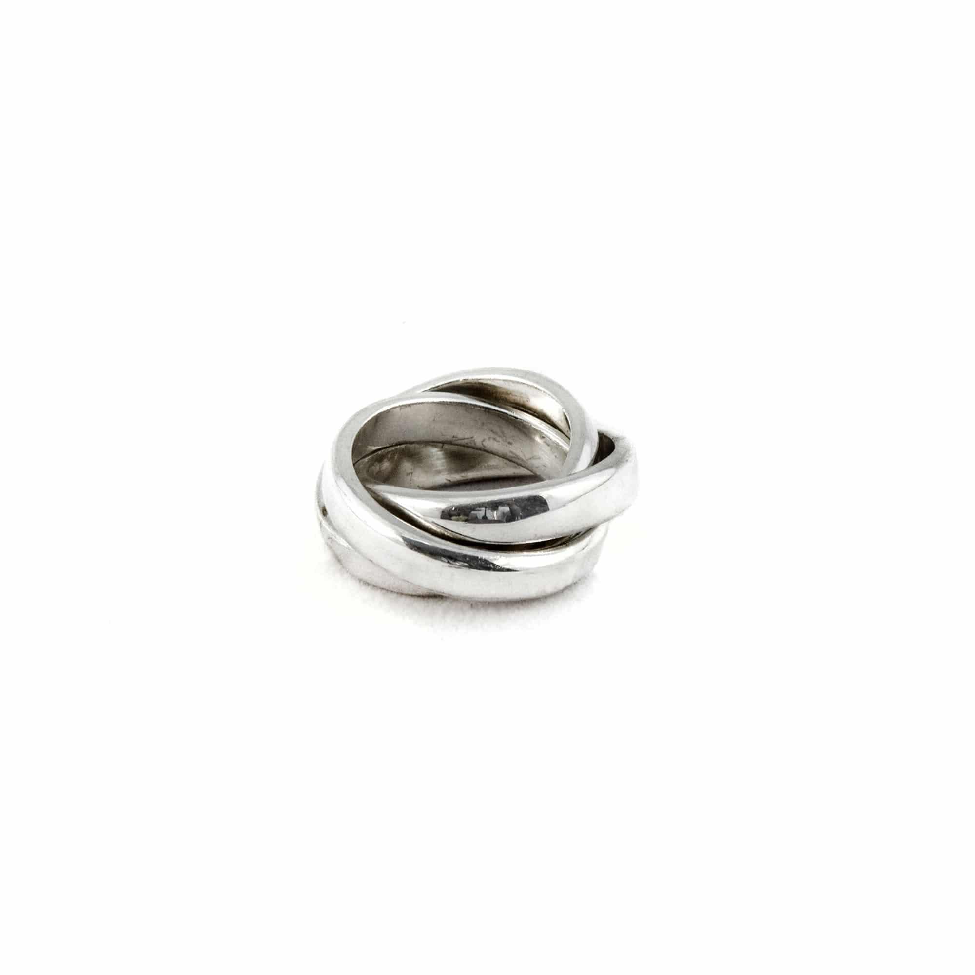 Segoya Tiga hoog gehalte zilveren ring, handgemaakt in Bali.